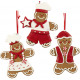 Christmas tree decorations gingerbread figure 10cm