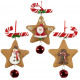 Christmas tree decorations gingerbread star 11cm