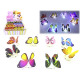 LED blinking butterfly 7,5-9,5cm 48 pcs in Display