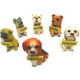 Animal figurine decoration dog polyresin height 14