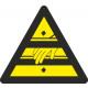 Triangular adhesive hazard attention hands 90mm