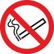 Lijm rond verboden rook 90 mm diameter