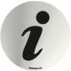 INOX SIGNAL INFORMATION 70mm DIAMETER