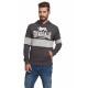 LONSDALE - Lonsdale sweatshirt - Blackb./lt gray m