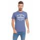 LONSDALE - T-shirt Lonsdale - Bleu marine chiné