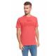 LONSDALE - Koszulka Lonsdale - Czerwony melanż