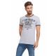 VARSITY - Vintage Ringer T-Shirt - Grigio scuro gr