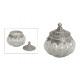 vaso di vetro con un coperchio metallico (B / H /