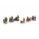 Miniatűr karácsonyi figurák poli szortírozott kisz