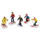 sciatori miniatura / snowboarder poly assortito,