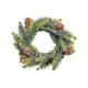 corona di abete rosso con il verde di plastica nev
