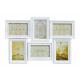 Photo frame per 6 foto in plastica bianca, B52