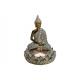 Buddha con candela supporto poli Brown (B / H / T)