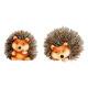Hedgehog made of clay / artificial fur, assorted,