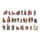 Miniaturowe Figury choinkowe z poli mieszany 3-5