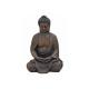 Buddha seduto in marrone da poli, 30 cm