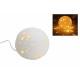 Lampada da tavolo palla bianca porcellana, B21 cm