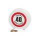 Salvadanaio Happy Birthday 40 ceramica, B14 x T5 x