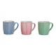 blu Becher, rosa, verde di ceramica 3 volte assort