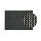 Tovaglietta in plastica nera / antracite, B45