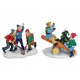 Miniature christmas figures made of poly, assorted