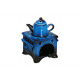 Ceramic ceramic lamp, stove with jug in blue, B10