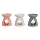 Aroma lamp white / gray / pink from ceramics, 3-wa