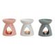Lampe de parfum blanc / gris / rose céramique, 3-s