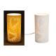 Cuori Lampada da tavolo in porcellana bianca, B20