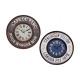 Zegar Vintage okrągła metalowa, 2-krotnie mieszany