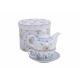 Teiera set lavanda decorazione di porcellana, 3-
