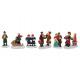 Miniatura figure di Natale da poli assortito , 4 c