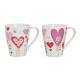 Szív csésze díszítése porcelánból, 4- szortírozott