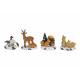 Miniatura Figure Natale da poli, 4-sortie