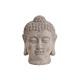 Buddha- testa in ceramica grigia, B18 x H11 cm