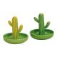 piatti Cactus ceramica verde 2 volte assortito , (
