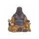 Buddha SEDUTA MARRONE / ORO POLY 30X20X29CM
