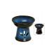 Ceramic aroma lamp, in blue, 13 cm