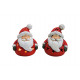 Windlight Nikolaus from clay, 2- times assorted ,