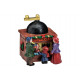 Christmas figure coffee mill made of poly, W6 x D5