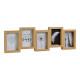 Cornice per foto 5 x (10x15 cm) in legno, vetro