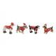 Cane invernale policromo con glitter 4 volte piega