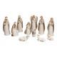 Set Presepe Porcellana Beige Set di 11, 5