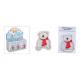 Scaldino tascabile orso bianco di plastica (W / H