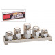 Tealight holder 5pcs on tray with stones from Hol