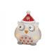 Lanterna Natale Gufo in ceramica colorata, (B / H