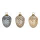 Ghirlanda di Natale ghianda oro, argento, marrone