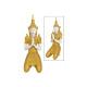 Buddha realizzato in poli oro (L / A / P) 34x74x30