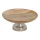 Ciotola in legno di mango, su base in metallo marr