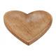 Piatto a forma di cuore Mango Legno Legno marrone